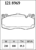 Тормозные колодки Dixсel Z-type для BMW F85 X5M F86 X6M, передние, Dixcel