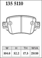 Тормозные колодки Dixcel Premiun для VAG 7N0698451A 8U0698451F 5Q0698451F 5Q0698451B 5Q0698451L, Dixcel