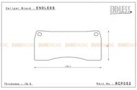 Тормозные колодки Endless MX72 Plus RCP052  для 6-ти порш. тормозной системы Endless, Endless