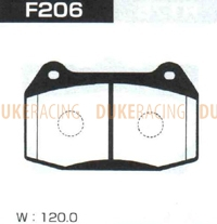 Тормозные колодки Project Mu HC+ F206 (передние) Nissan Skyline GT-R Stagea