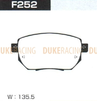 Тормозные колодки Project Mu B-Spec F252 (передние) Nissan Murano Infinity FX35
