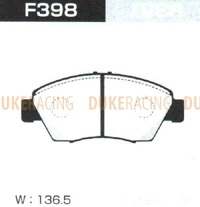 Тормозные колодки Project Mu B-Spec F398 (передние) Honda Airwave Integra Edix Civic CR-X