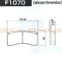 Тормозные колодки Project Mu HC+ F1070 t=20мм alcon/brembo