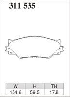 Тормозные колодки Dixcel Extra Speed (ES) для Lexus SE30 (IS250・Fスポーツ)/AVE30 (IS300h・Fスポーツ) 311535 EF440, передние, Dixcel
