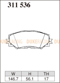 Тормозные колодки Dixcel Extra Speed (ES) для Lexus RAV4 311536 EP459, передние