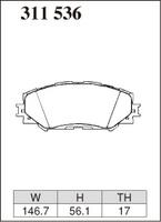 Тормозные колодки Dixcel Extra Speed (ES) для Lexus RAV4 311536 EP459, передние, Dixcel