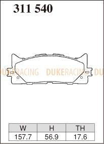 Тормозные колодки Dixcel Extra Speed (ES) 311540 (EP515) для Toyota Camry V30 V40 V50, Lexus ES , передние