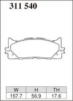 Тормозные колодки Dixcel Extra Speed (ES) 311540 (EP515) для Toyota Camry V30 V40 V50, Lexus ES , передние, Dixcel
