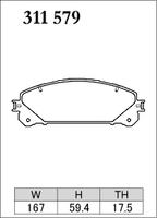 Тормозные колодки Dixcel Extra Cruise (EC) для Lexus NX RX 311579 EP477, передние