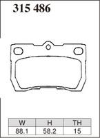 Тормозные колодки Dixcel Extra Speed (ES) для Lexus GS 315486 EP422, задние, Dixcel