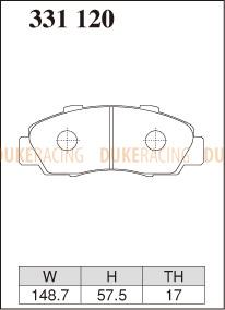 Тормозные колодки Dixcel Z-type 331120 HONDA CIVIC EK9 / INTEGRA DC2 '98R / NSX NA1/2, передние
