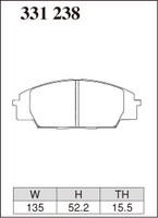 Тормозные колодки Dixcel Extra Speed (ES) 331238 EP406 F336 для  Honda S2000, Civic Type R EP3 FN2, передние, Dixcel