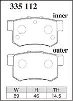 Тормозные колодки Dixcel RA (EP312, R389) Honda Accord CL1 CL7 CL9 Inetgra DC5 Civic EP3 задние, Dixcel
