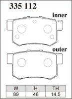 Тормозные колодки Dixcel RA (EP312, R389) Honda Accord CL1 CL7 CL9 Inetgra DC5 Civic EP3 задние