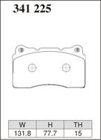 Тормозные колодки Dixcel RA-type 341225 MITSUBISHI LANCER EVO. CP9A/CT9A/CZ4A, передние, Dixcel