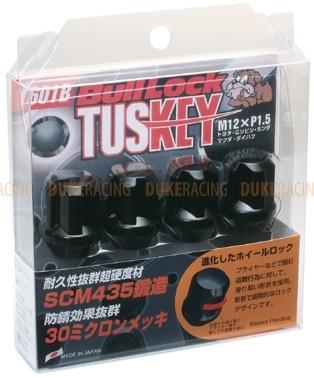 Секретки KYO-EI Bullock Tuskey M12x1,5 черные