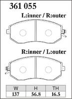 Тормозные колодки Dixcel ES  361055 (EP386, F914) Subaru BRZ/Toyota GT86 передние, Dixcel