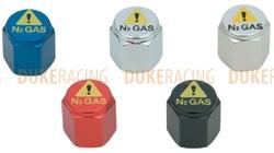 Колпачки ниппелей N2 Gas черные, KYO-EI