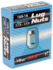 Колесные гайки KYO-EI Lug nuts 19hex M12x1,25 16 шт черные