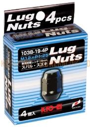 Колесные гайки KYO-EI Lug nuts 19hex M12x1,25 4 шт черные