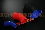 Патрубок силиконовый 70 мм 45 градусов синий