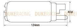 Топливный насос Tomei Универсальный 255L/H 183020
