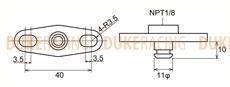 Адаптер топливного регулятора Nissan, Subaru, Toyota, Tomei