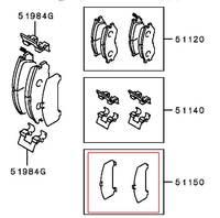 Комплект противоскрипных пластин для суппорта Brembo, Mitsubishi Lancer Evo, Mitsubishi