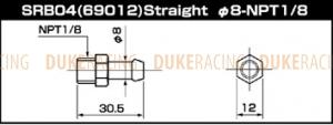 SARD Фитинг адаптера топливного регулятора SRB04