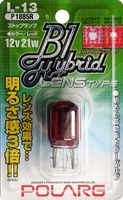 Лампы дополнительные Polarg B1 Hybrid Lens Type L13 T20 12V 21W красные, Polarg