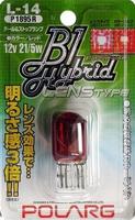 Лампы дополнительные Polarg B1 Hybrid Lens Type L14 T20 12V 21/5W красные, Polarg