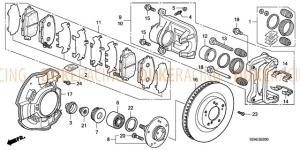 Гайка оси колеса, Honda S2000