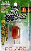 Лампы дополнительные Polarg B1 Hybrid Lens Type L17 T20(обычные контакты) 12V 21W оранжевые, Polarg