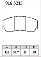 Тормозные колодки Dixcel Specom-β 9163215 PRODRIVE D50 TH16 4POT, Dixcel