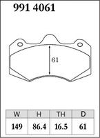 Тормозные колодки Dixcel Specom-β 9914061 AP RACING D61 TH16.5 CP7040 6POT, Dixcel