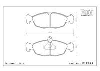Тормозные колодки ENDLESS ME20 (CC40) EIP048 OPEL Astra, Vectra, Racing compound, передние, Endless