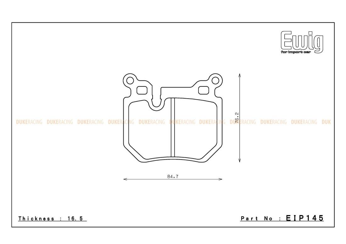 Тормозные колодки ENDLESS ME20 (CC40) EIP145 BMW E82, Racing compound, задние