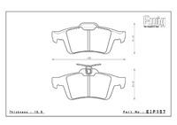Тормозные колодки ENDLESS ME20 (CC40) EIP157 VOLVO S40 V50, Racing compound, задние, Endless