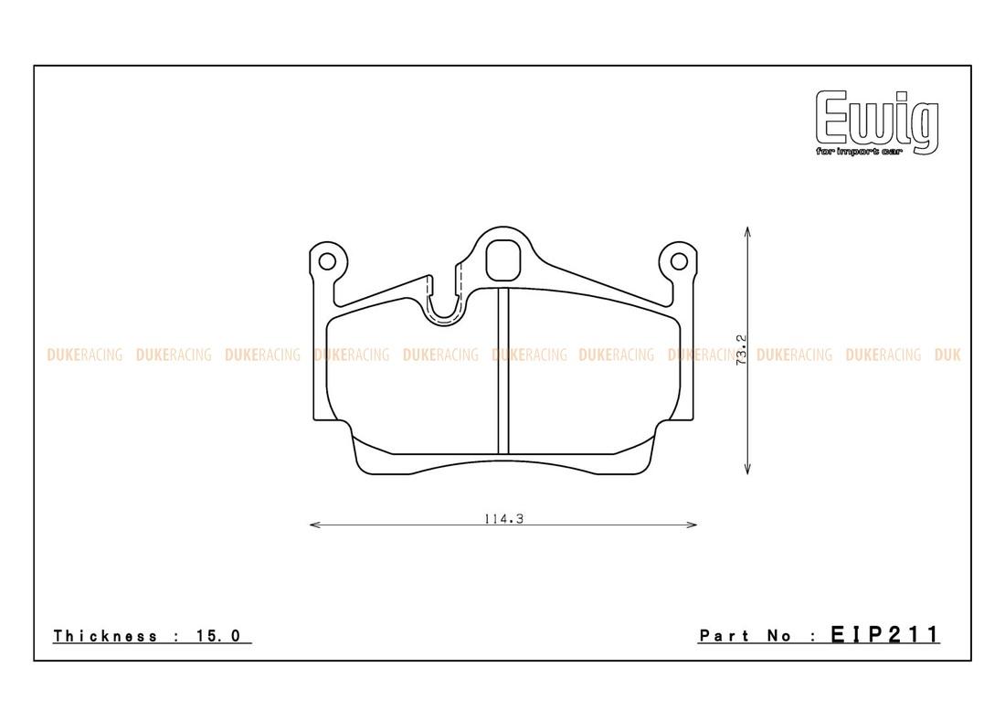 Тормозные колодки ENDLESS ME20 (CC40) EIP211 PORSCHE CAYMAN (987), Racing compound, задние