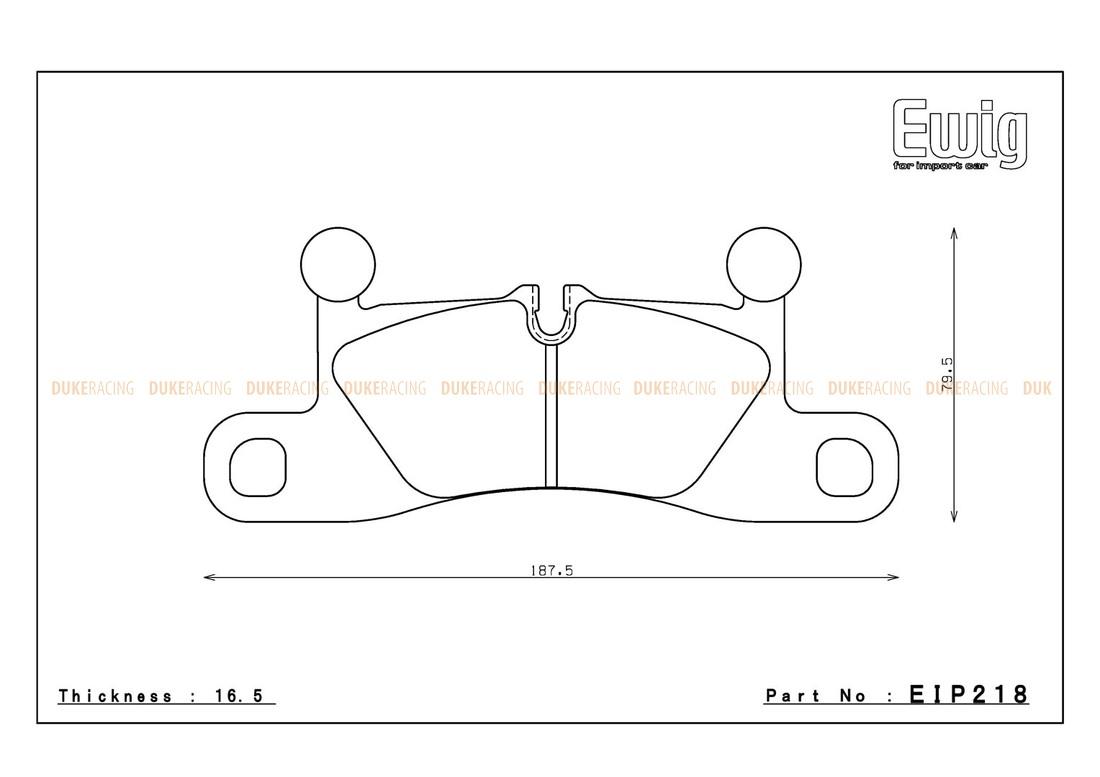 Тормозные колодки ENDLESS MX72 EIP218 PORSCHE 911 (991) Carrera/Carrera 4, Street/Circuit compound, задние