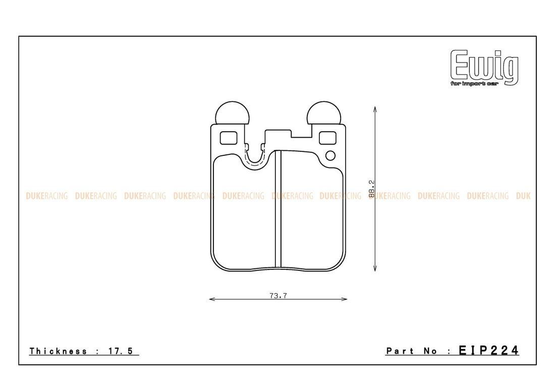Тормозные колодки ENDLESS ME20 (CC40) EIP224 BMW M2, M4, M135i, M Performance F30/F31, Racing compound, задние
