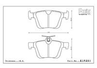 Тормозные колодки ENDLESS MX72 EIP251 VW Golf VII Gti Performance, 2.0R, Street/Circuit compound, задние, Endless