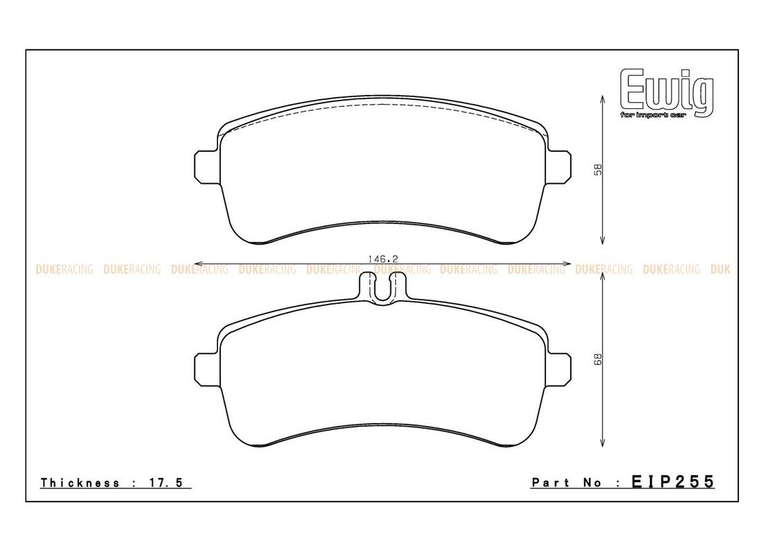 Тормозные колодки ENDLESS ME20 (CC40) EIP255 MERCEDES-BENZ W222 S63, Racing compound, задние