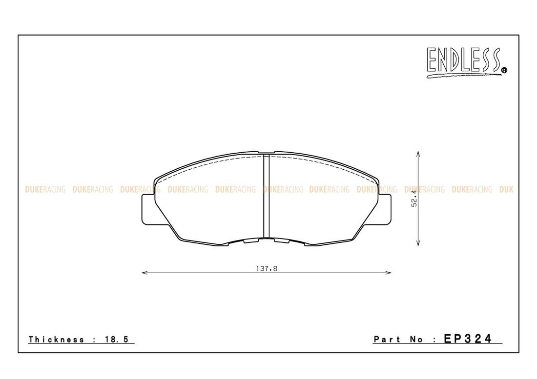 Тормозные колодки ENDLESS EP324 SSY Honda, Accord, Accord, Wagon передние