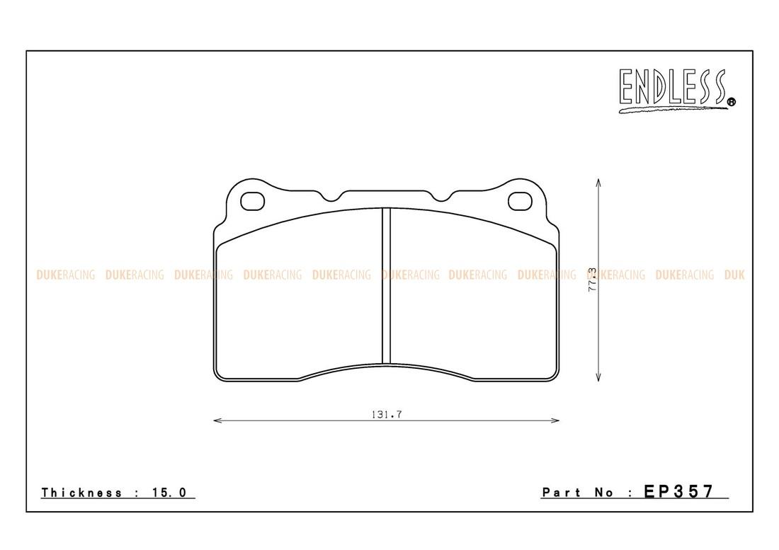Тормозные колодки ENDLESS EP357 Type-R Mitsubishi Lancer EVO, Subaru Impreza STI  передние