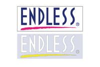 Наклейка Endless Brush Line с белым логотипом, Endless