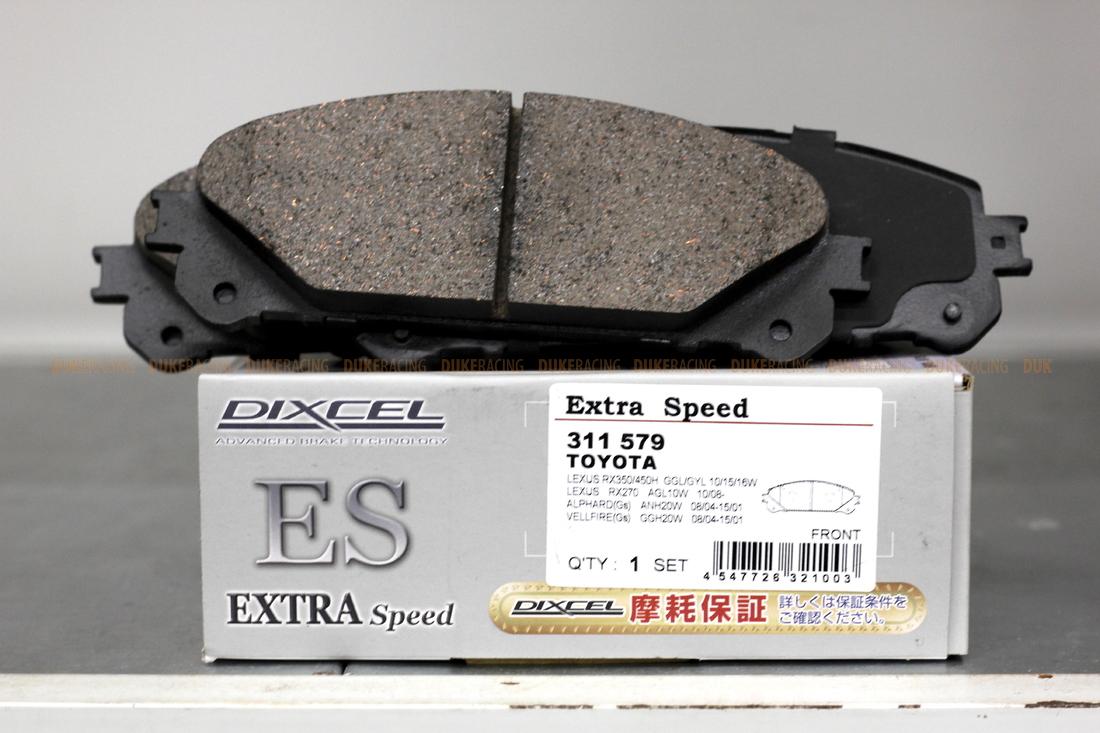 Тормозные колодки Dixcel Extra Speed (ES) для Lexus NX RX 311579 EP477, передние