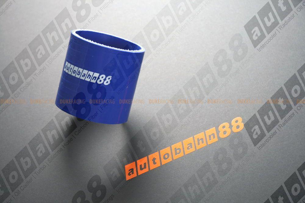 Патрубок силиконовый 51 мм прямой синий