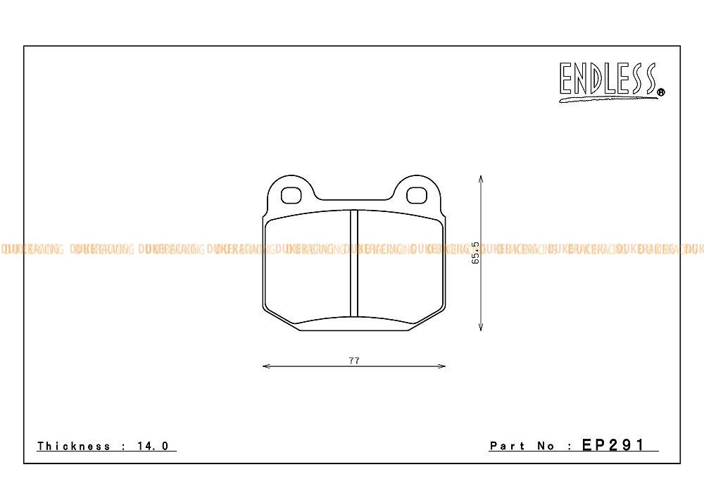 Комплект тормозных колодок Endless для супортов Brembo Gold/Red Перед EP357ME20 Зад EP291MX72