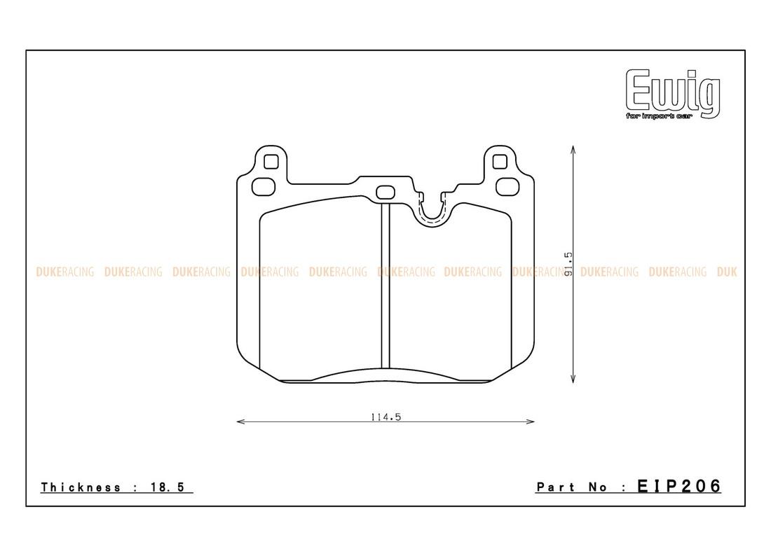 Тормозные колодки ENDLESS ME20 (CC40) EIP206 BMW M2, M4, M135i, M Performance F30/F31, Racing compound, передние
